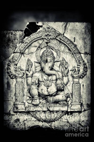 Yogic Wall Art - Photograph - Ancient Ganesha by Tim Gainey