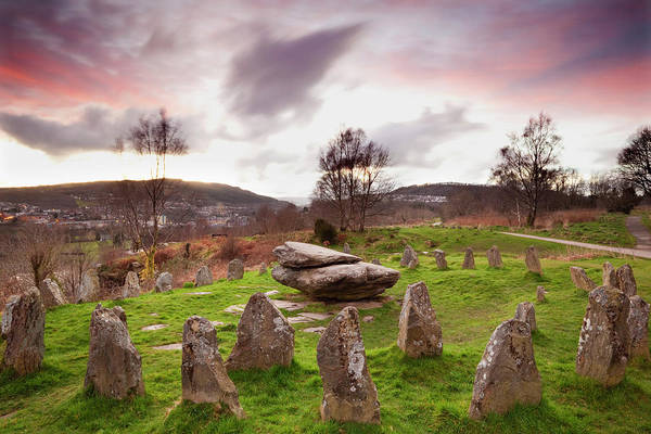 The Past Photograph - Ancient Gorsedd Stones, Pontypridd by Billy Stock / Robertharding