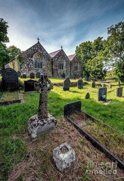 Cemetaries Wall Art - Photograph - Ancient Graveyard   by Adrian Evans