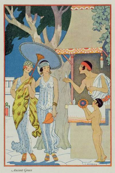 Stencil Painting - Ancient Greece by Georges Barbier