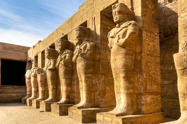Photograph - Ancient Guardians At The Egyptian Ruins Of Karnak by Mark Tisdale