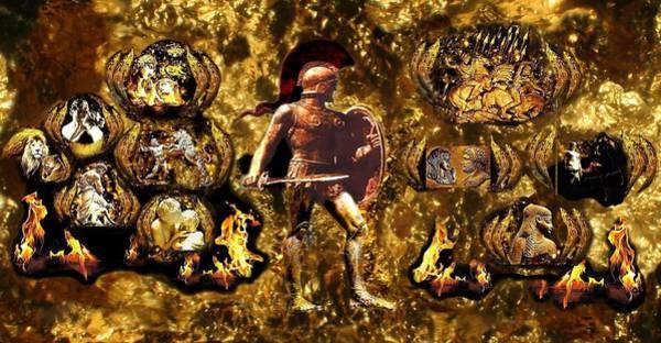 Macedonia Digital Art - Ancient Hellenic Antiquity Part 2a by Anastasios Aretos