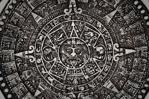 Photograph - Aztec Sun God by Brandon Bourdages