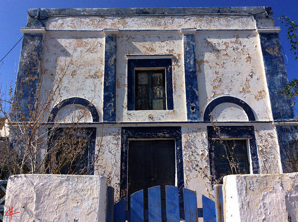Photograph - Ancient Old Santorini  Thirasiahause by Colette V Hera  Guggenheim