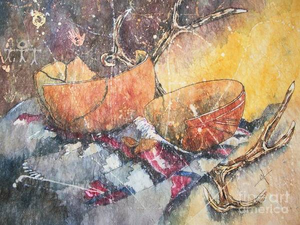 Painting - Ancient Relics by Carol Losinski Naylor