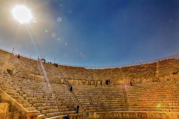 Amphitheater Wall Art - Photograph - Ancient Roman Amphitheater, Jerash by William Perry