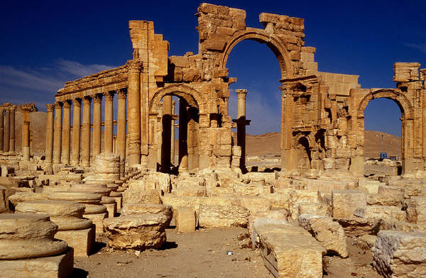 Colonnade Photograph - Ancient Roman City Of Palmyra, Syria Photo by .
