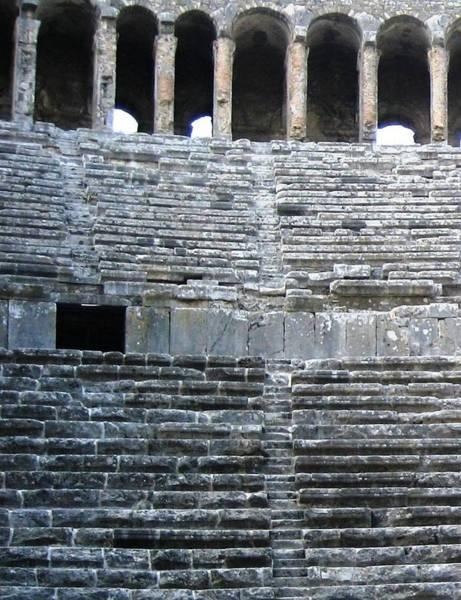 Eastern Anatolia Photograph - Ancient Roman Theater 2 by Teresa Ruiz