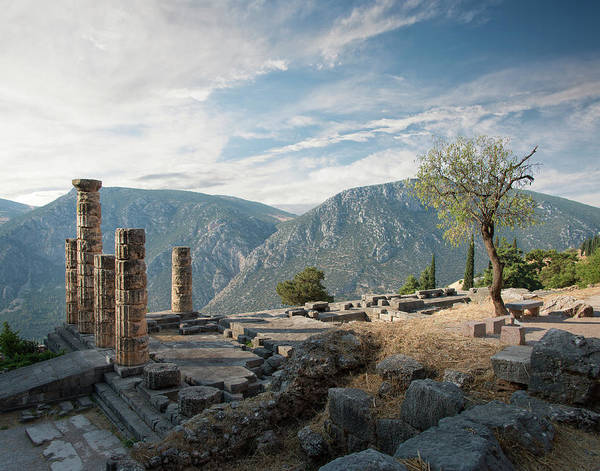 Ancient Greek Photograph - Ancient Ruins At Delphi, Greece by Ed Freeman