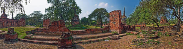 Wall Art - Photograph - Ancient Ruins Of Ayutthaya Historical by Panoramic Images