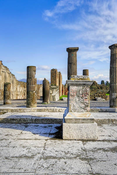 Photograph - Ancient Ruins Of Pompeii by Mark E Tisdale