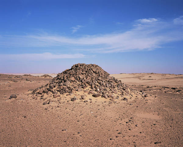 Mound Photograph - Ancient Saharan Burial Tomb by Sinclair Stammers/science Photo Library