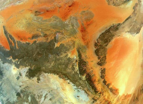 Wall Art - Photograph - Ancient Saharan Rocks by Nasa/science Photo Library