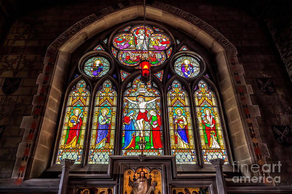 Welsh Church Wall Art - Photograph - Ancient Stained Glass by Adrian Evans