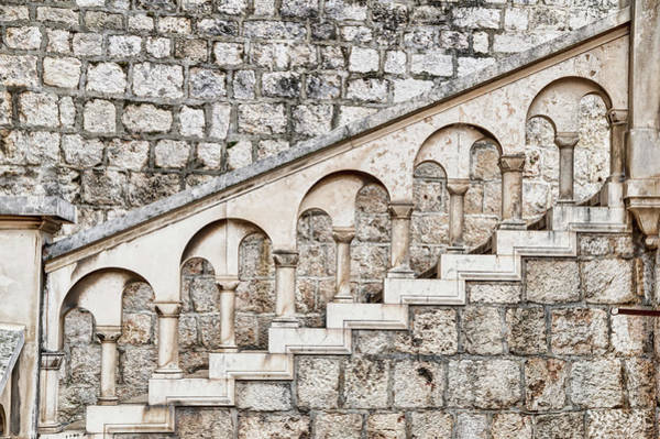 Baluster Wall Art - Photograph - Ancient Stone Stairway by Ogphoto