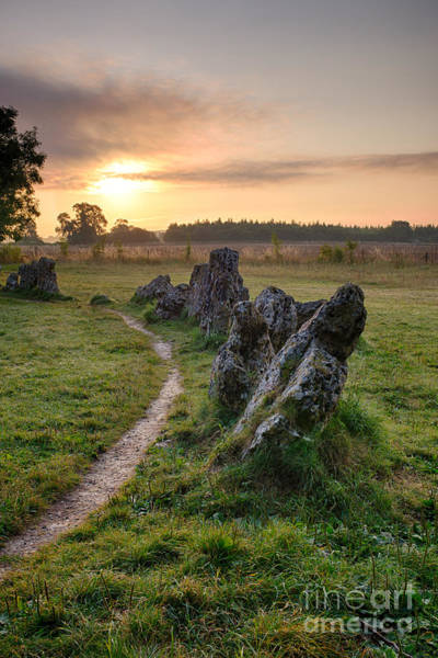 Druid Wall Art - Photograph - Ancient Stones Sunrise  by Tim Gainey