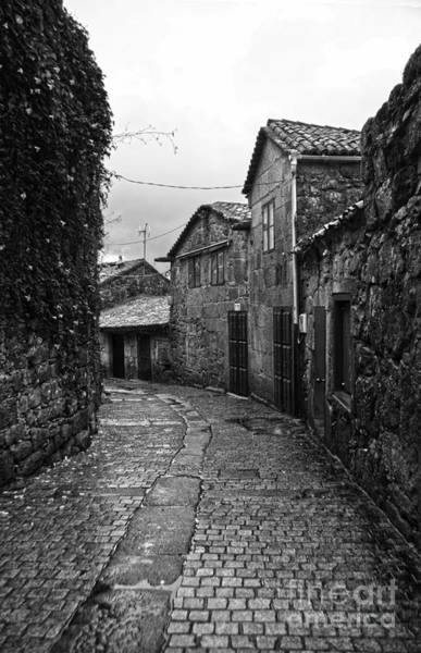 Galicia Photograph - Ancient Street In Tui Bw by RicardMN Photography