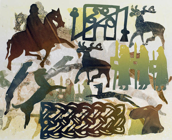 Horseman Photograph - Ancient Travellers, 1995 Monotype by Gloria Wallington