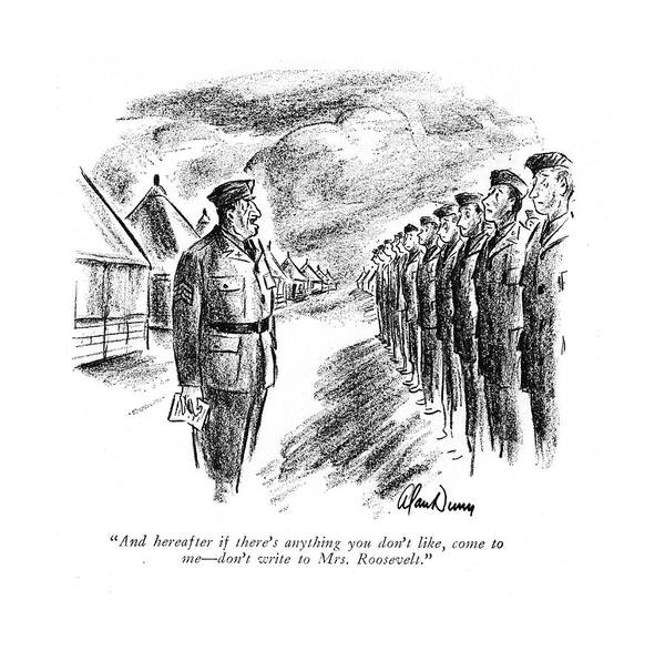 Officials Drawing - And Hereafter If There's Anything You Don't Like by Alan Dunn