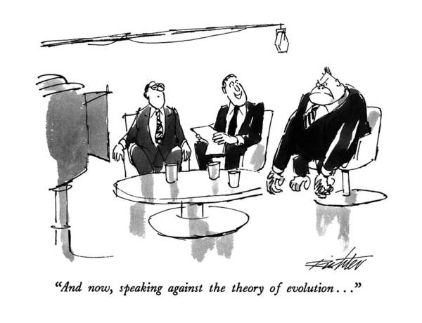 Animals In Suits Wall Art - Drawing - And Now, Speaking Against The Theory by Mischa Richter