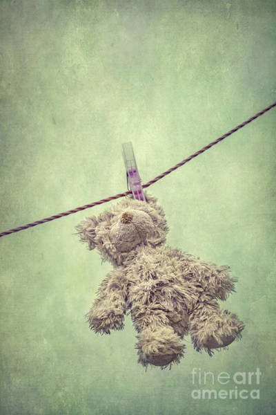 Teddy Photograph - And Then The Childhood Was Left Behind by Evelina Kremsdorf