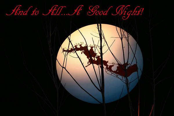 And To All A Good Night Art Print