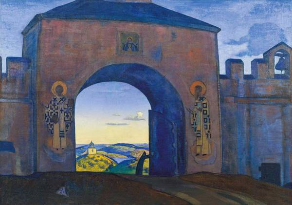 Nk Roerich Painting - And We Are Opening The Gates by Nicholas Roerich