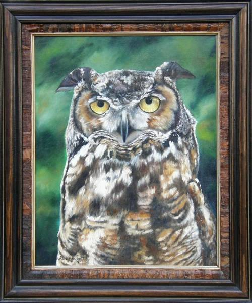 Painting - And You Were Saying Framed by Lori Brackett