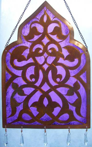 Mixed Media - Hamsa Window Passage by Shahna Lax