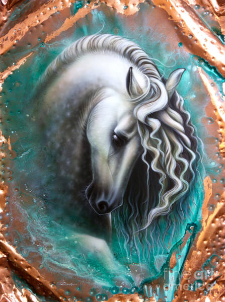 Andalusian Wall Art - Painting - Andalusian - Copper by Sandi Baker
