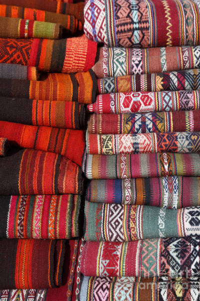Photograph - Andean Textiles by James Brunker