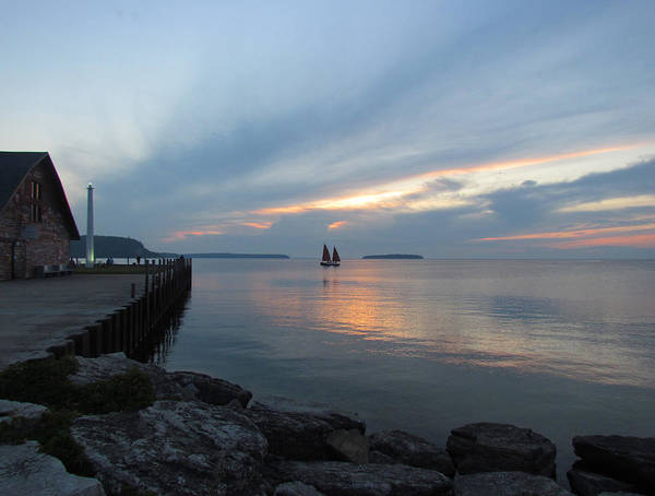 Photograph - Anderson Dock Sunset by David T  Wilkinson