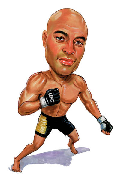 Wall Art - Painting - Anderson Silva by Art
