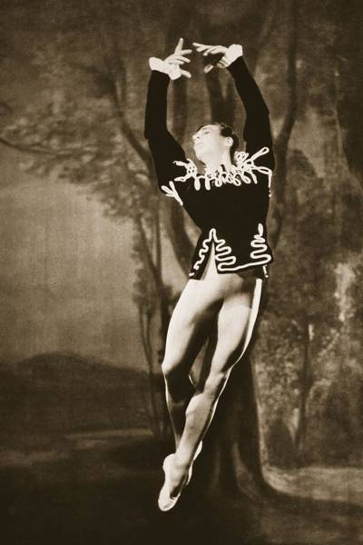 Wall Art - Painting - Andre Eglevsky In Swan Lake, From Grand by French Photographer