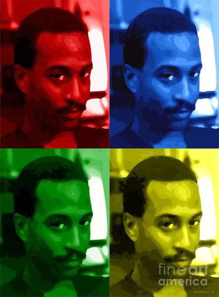 Digital Art - Andre In C M K Y by Walter Neal
