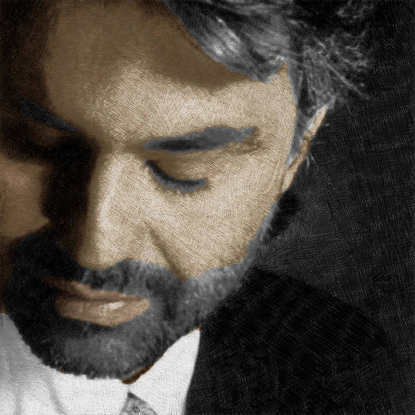 Opera Singer Painting - Andrea Bocelli And Square by Tony Rubino