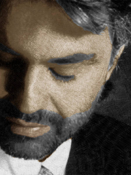 Opera Singer Painting - Andrea Bocelli And Vertical by Tony Rubino