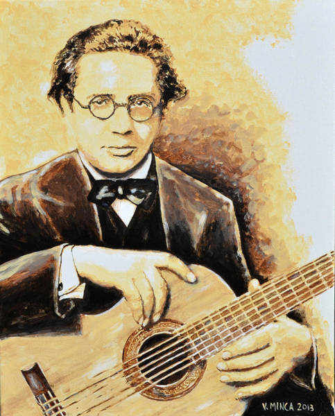 Spanish Guitar Wall Art - Painting - Andres Segovia by Victor Minca