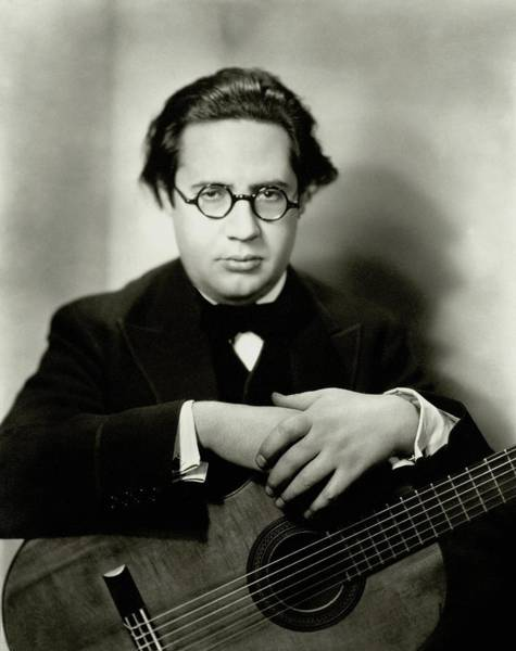 Eyewear Photograph - Andres Segovia With A Guitar by Nickolas Muray
