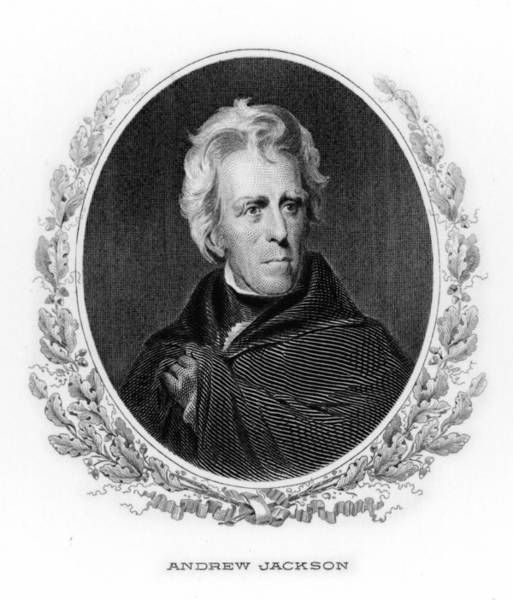 Wall Art - Drawing - Andrew Jackson  7th American President by Mary Evans Picture Library