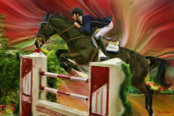 Photograph - Andrew Ramsay On Horse Adamo Van't Steenputie by Blake Richards
