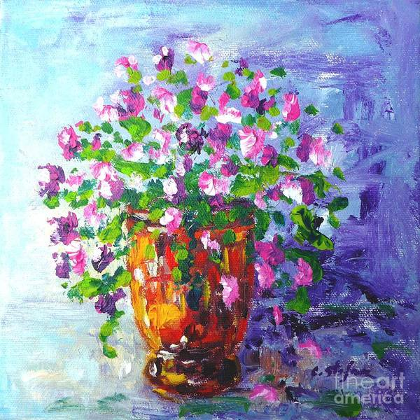 Painting - Anduze Pot With Flowers by Cristina Stefan