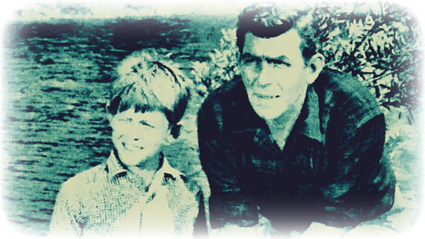Photograph - Andy And Opie Taylor by Paulette B Wright