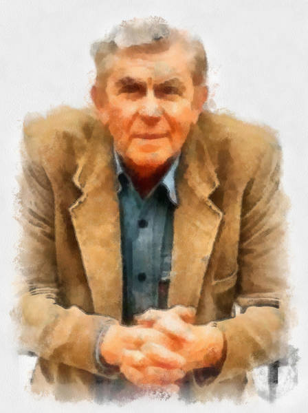 Digital Art - Andy Griffith by Paulette B Wright
