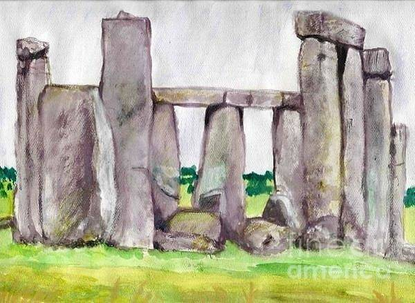 Painting - Andy's Stonehenge by Denise Railey