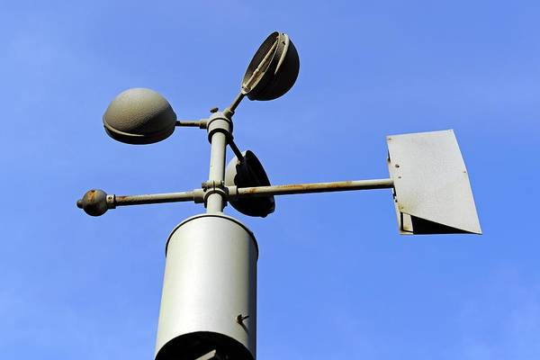 Technological Photograph - Anemometer And Wind Vane by Bildagentur-online/mcphoto-schulz