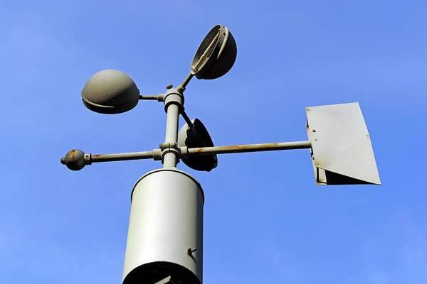Technological Wall Art - Photograph - Anemometer And Wind Vane by Bildagentur-online/mcphoto-schulz