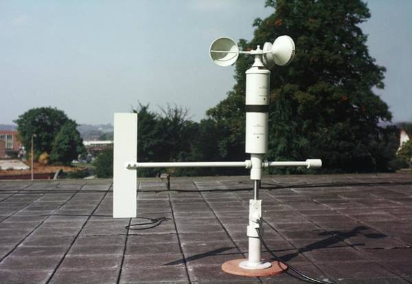 Met Photograph - Anemometer by British Crown Copyright, The Met Office / Science Photo Library