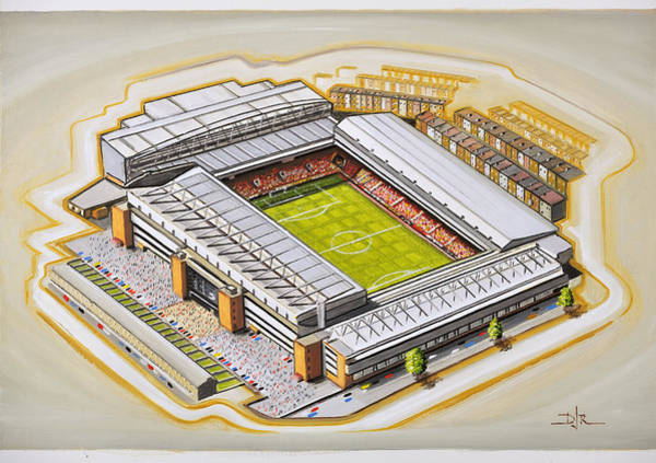 Wall Art - Painting - Anfield - Liverpool by D J Rogers