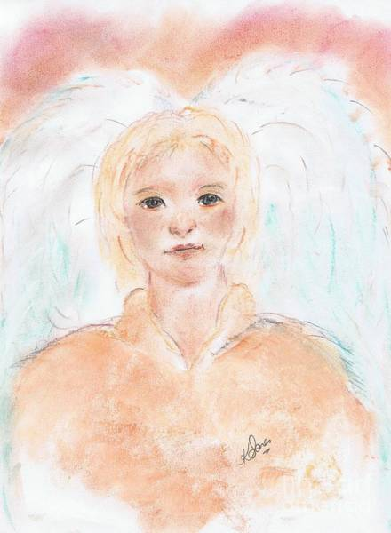 Painting - Angel A  by Karen Jane Jones